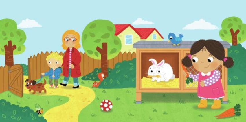 Children Pets Garden