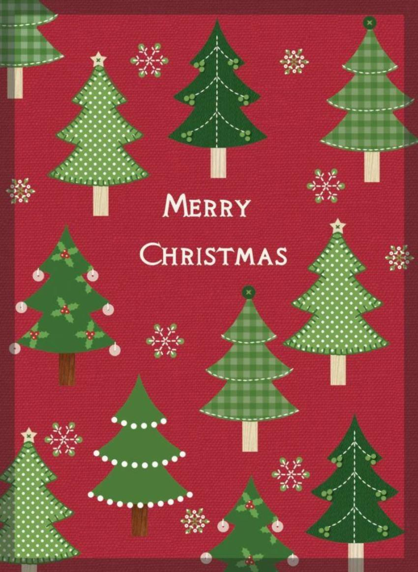 NT01 Trees Christmas Card 1