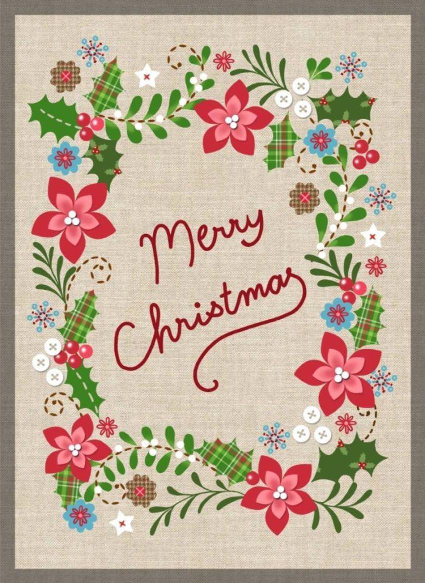 NT02 Linen Christmas Card  Copy3