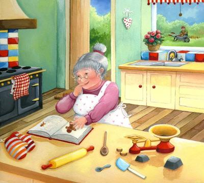 granny-making-the-gingerbread-man