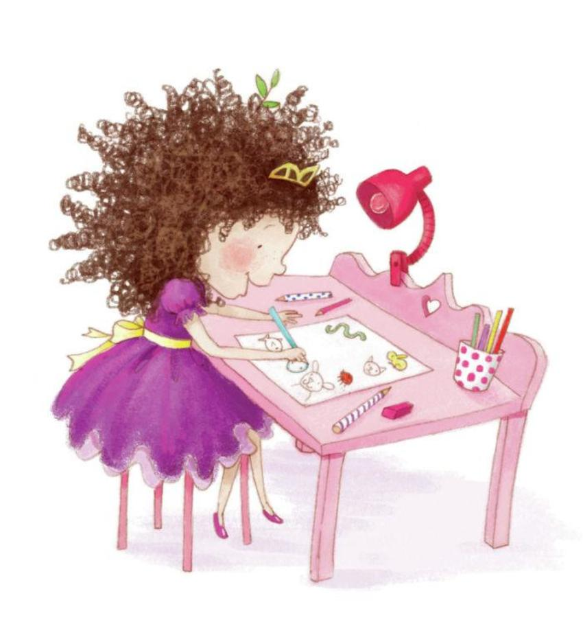 Princess_drawing_desk
