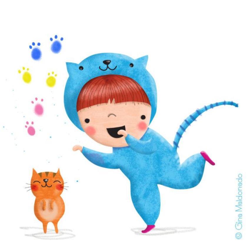 Boy With Cat Onesie - GM
