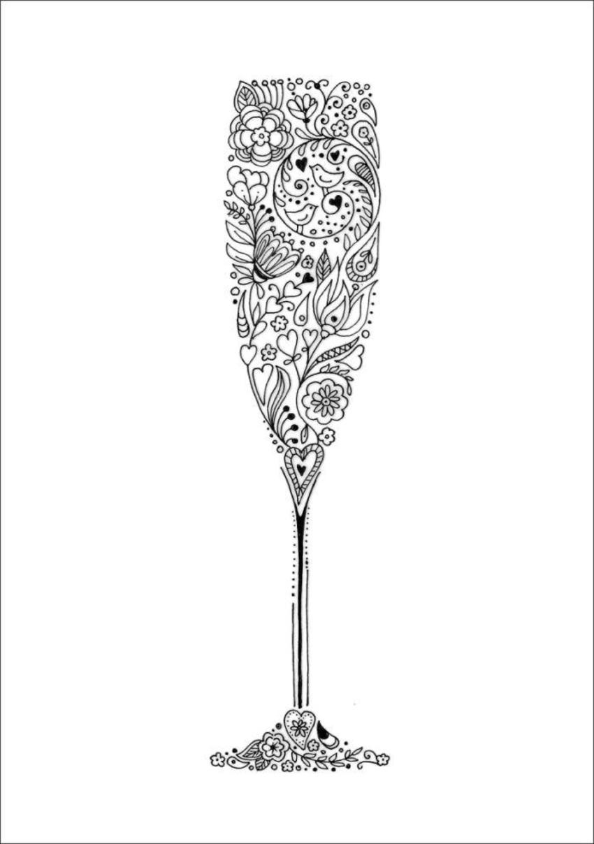 Doodle Champagne