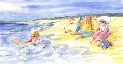 corke-book-granparents-child-beach
