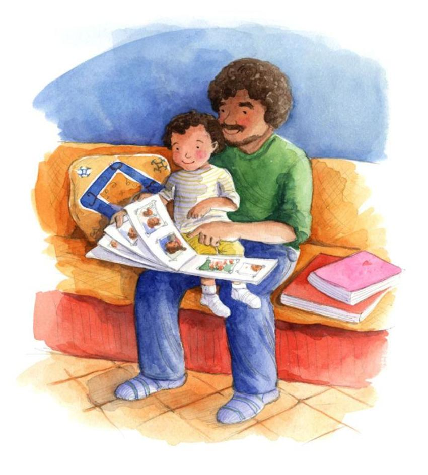 Corke Book Mexican Father And Child Reading