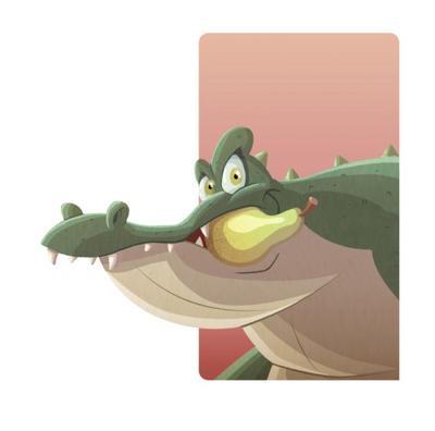 cornia-animal-croc-pear