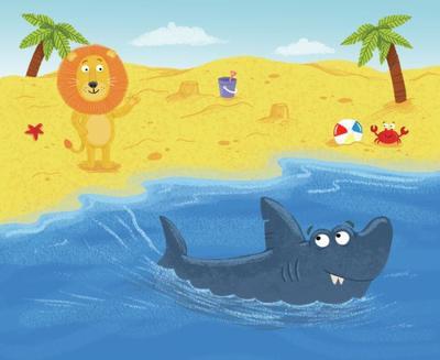 lion-shark-beach