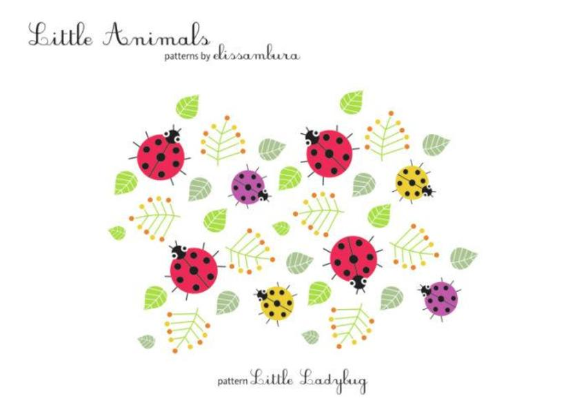 Little Animals  Patterns Ladybug 01