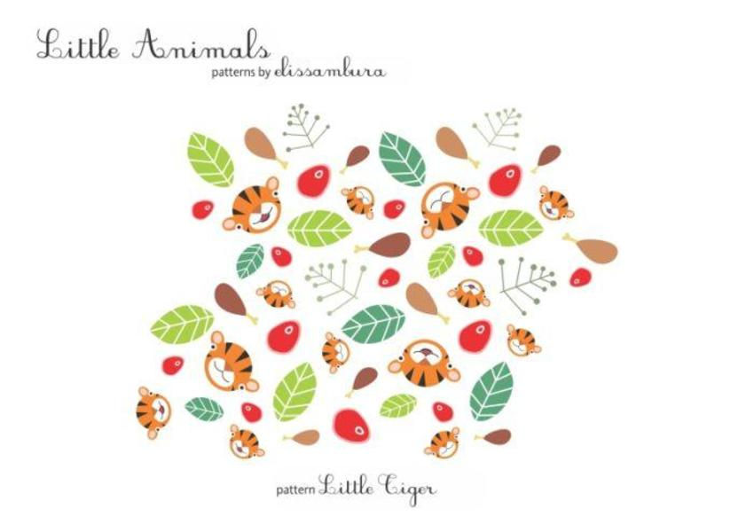 Little Animals Patterns Tiger  01