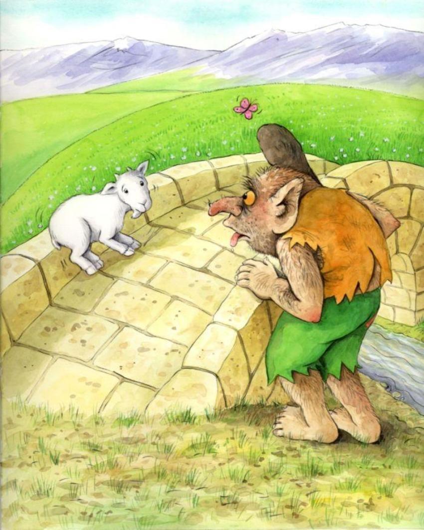 Book Corke Fairytale Billy Goats Gruff