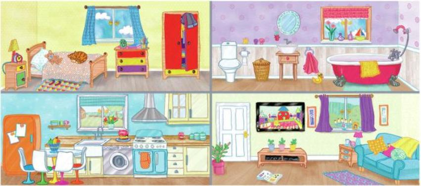 Spread 2-3 HOUSE SCENE 2