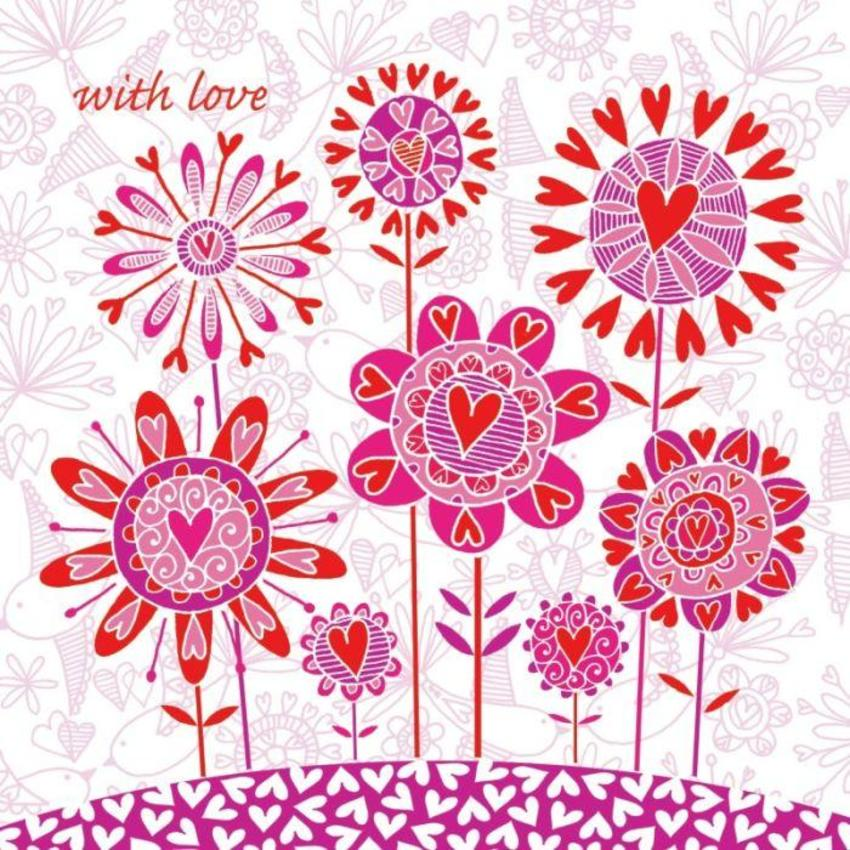 flowersbirdshearts with love 16x16 card.jpg