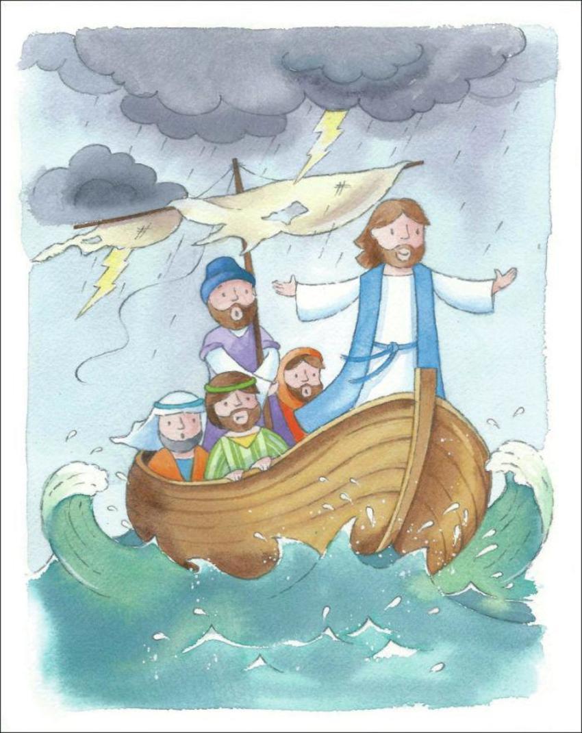 Bible. Jesus Calms Sea