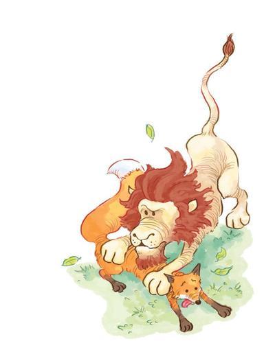 jon-davis-story-a-day-fox-lion