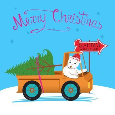 christmas-santa-s-workshop-polar-bear-and-christmas-tree