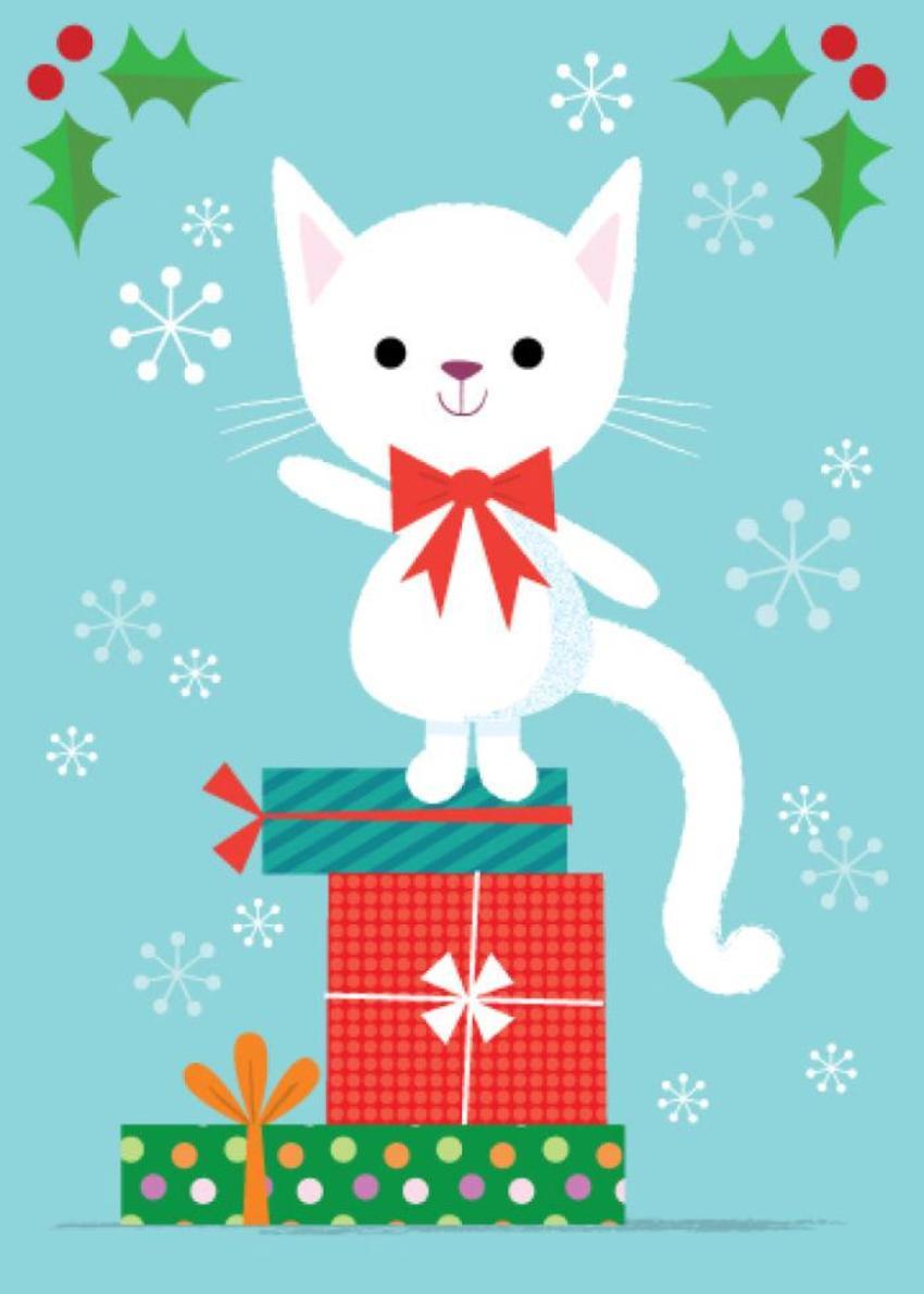 ACW-cat-Christmas-winter-presents-snow