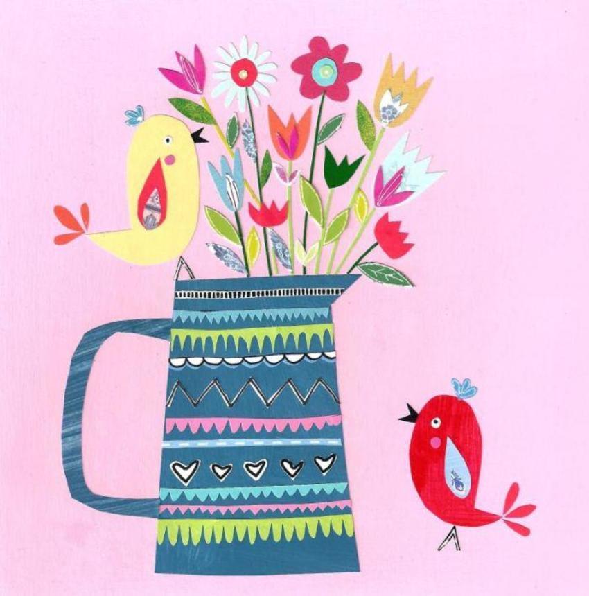 PT - NEW Birds & Vase