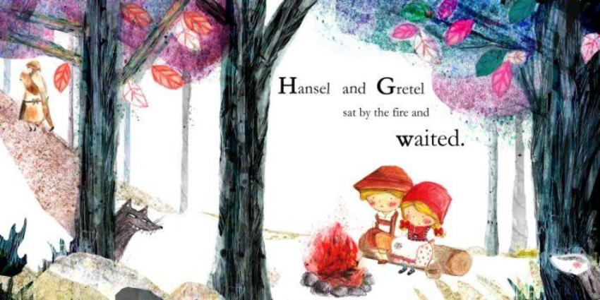 Hansel and Gretel Double Page with text.psd