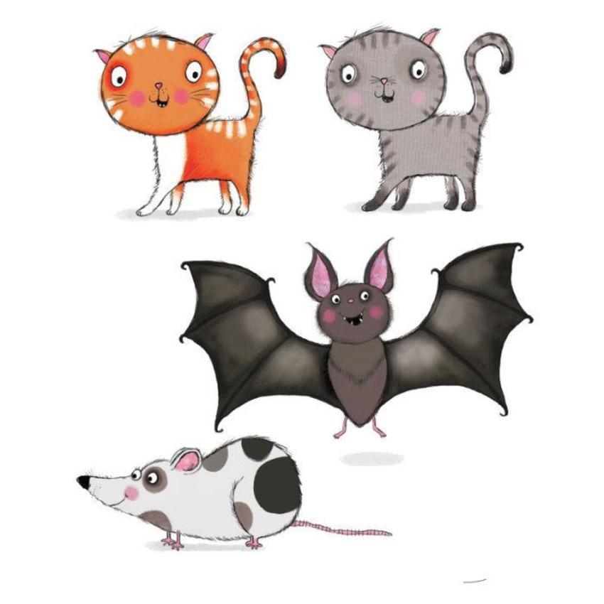rat cat and bat sketches2.psd