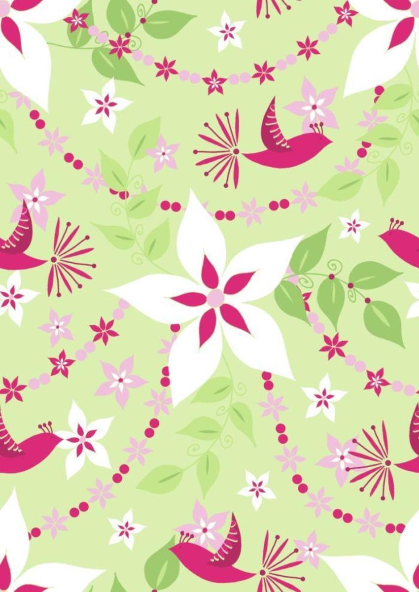 birds flowers garlands.psd