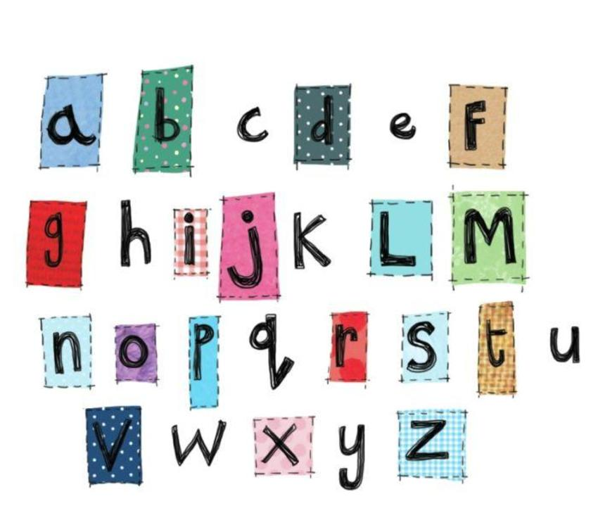 alphabet k saunders.psd