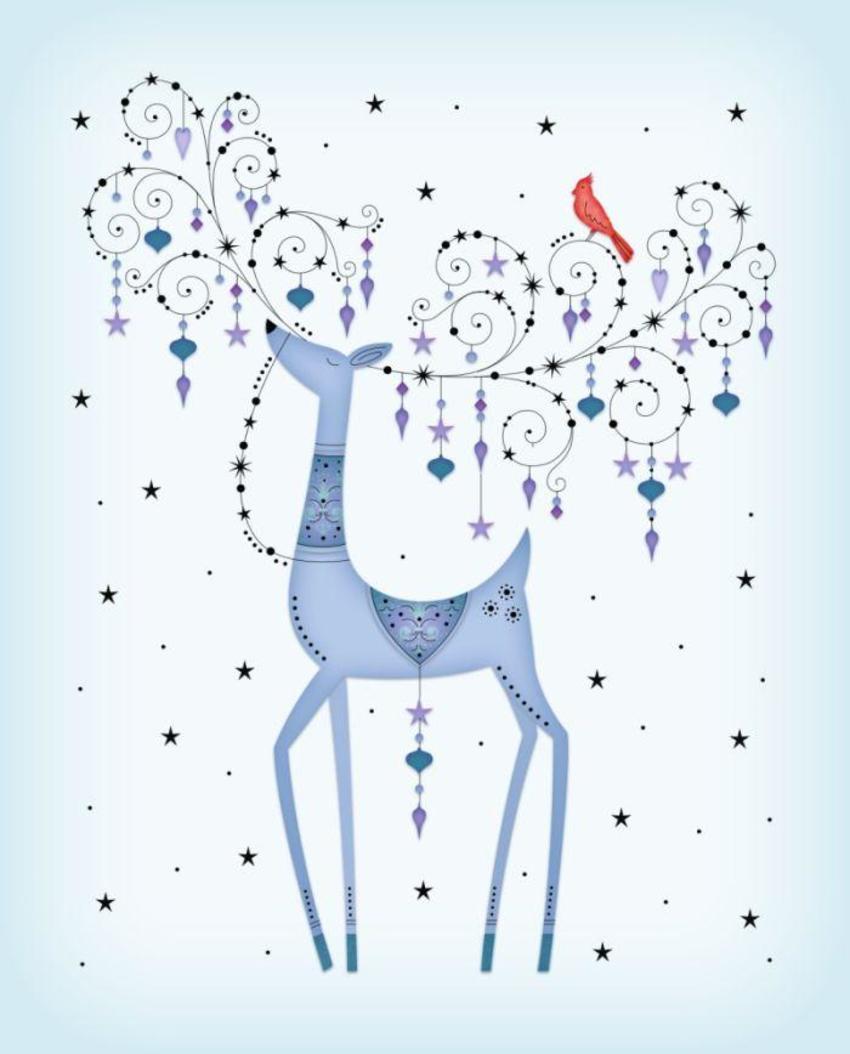 Papyrus reindeer artwork.psd