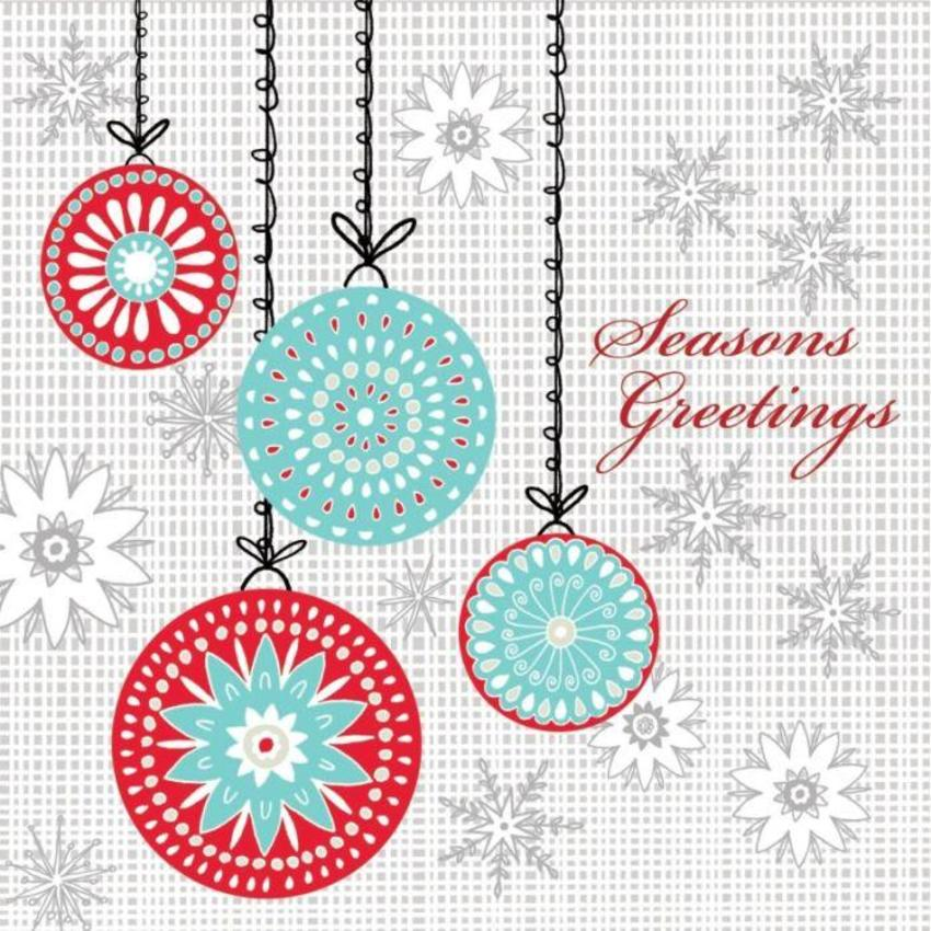 Four hanging baubles Christmas card.jpg