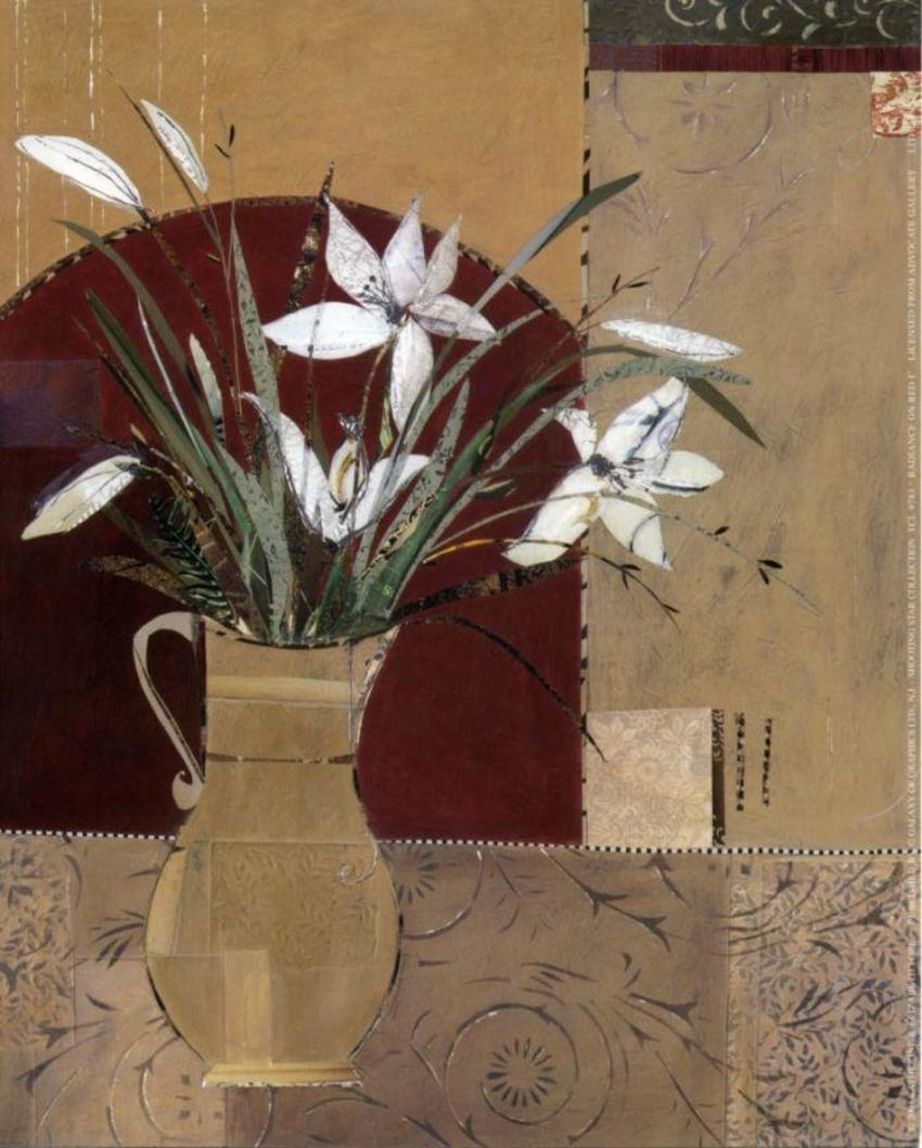 popes red/beige lily.jpg