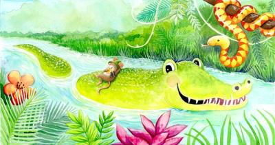 exactly-like-me-book-crocodile-and-mouse-watercolour-gailyerrill