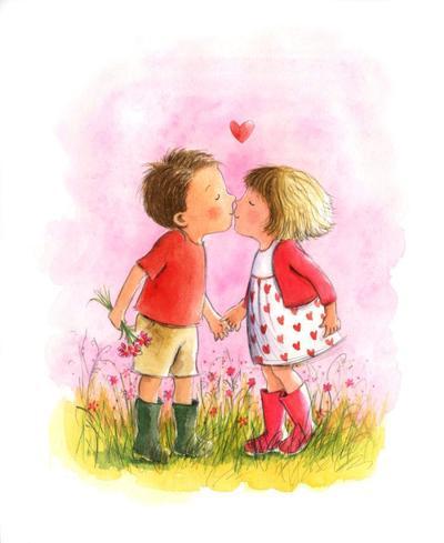 kissing-children-art