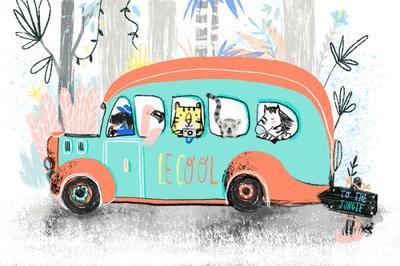 jungle-animals-van