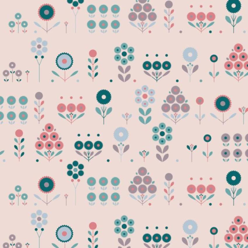 RP Retro Flowers Pattern1