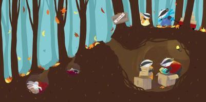 hibernating-animals-badger-rabbit-autumn-claire-keay