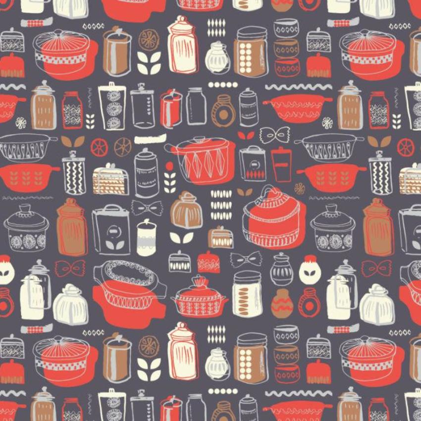 RP Kitchen Dishes And Canisters Pattern