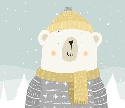 polar-bear-in-jumper-scarf-and-hat-claire-keay