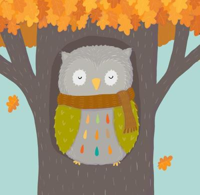 owl-in-autumn-tree-claire-keay