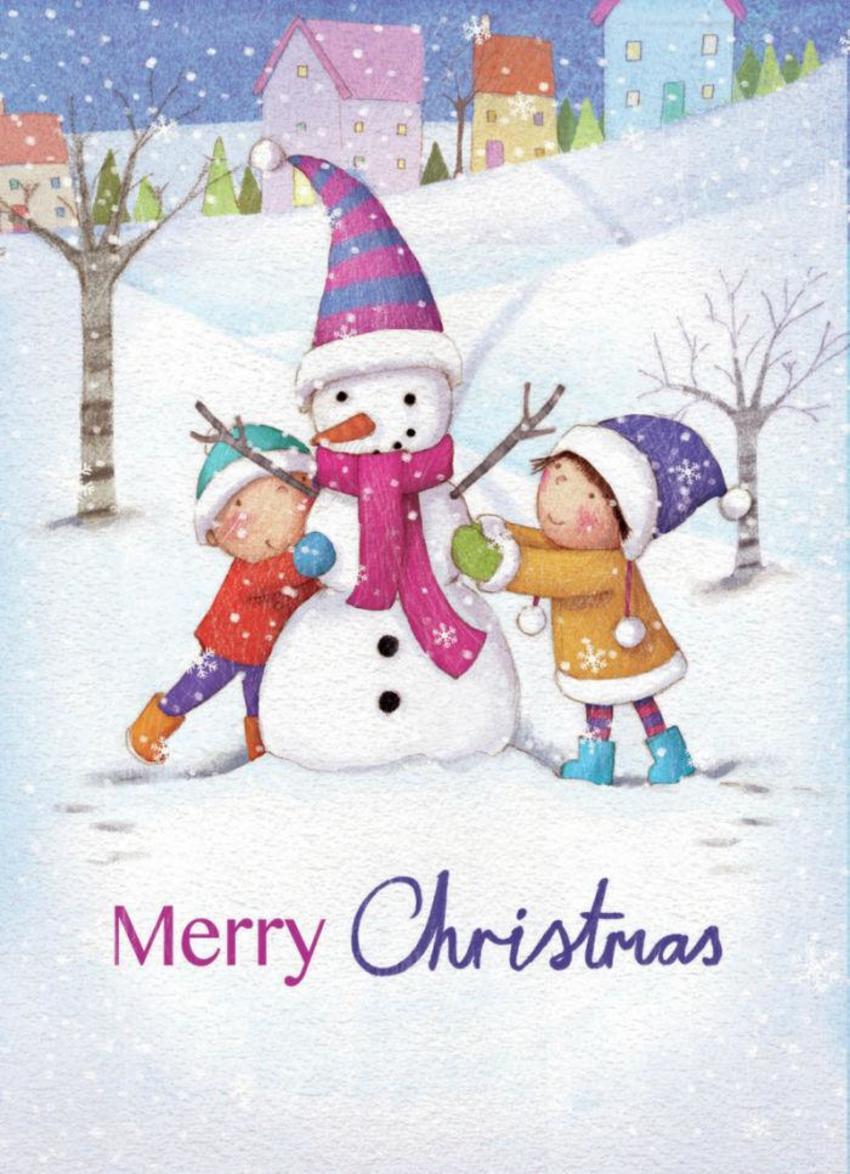 Children Snowman