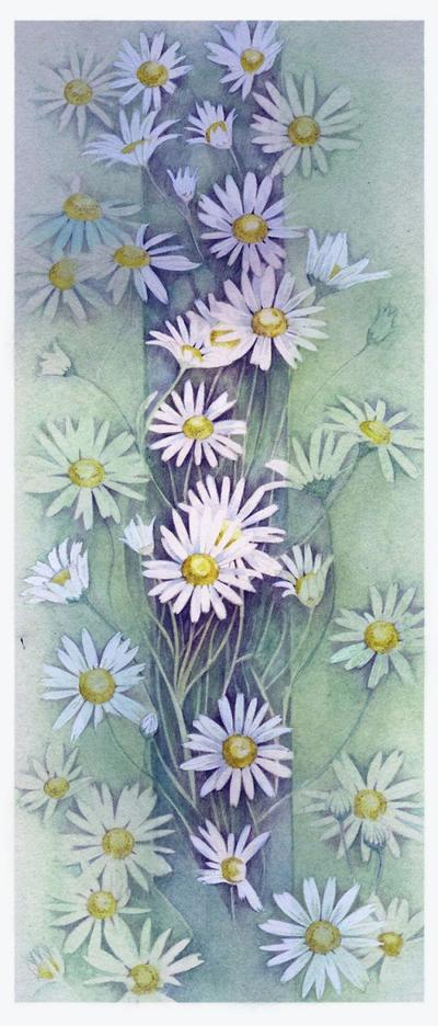 watercolour-daises