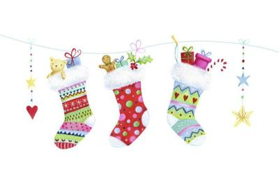 christmas-stockings-presents-bear-gingerbread-man-candy-cane