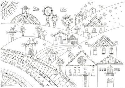 l-k-pope-houses-4-black-ink