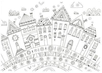 l-k-pope-houses-5-black-ink