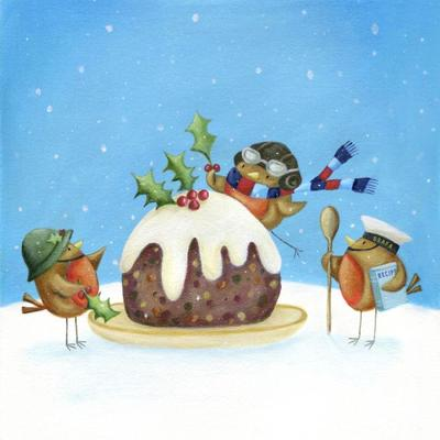 christmas-pudding-robins-holly-wooden-spoon