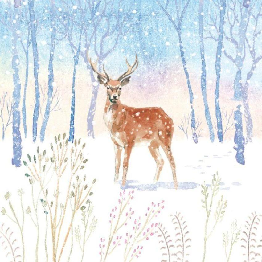 Winter-forest-snow-countryside-animal-woodland-stag-deer-vic-mclindon