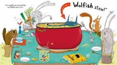 cooking-funny-characters-table-recipe-bunny-rabbit-squirrel-beaver-hedgehog-mice-animals