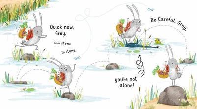 rabbit-jumping-lake-riber-animal-frog-funny-water