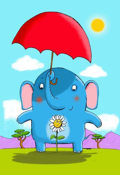 elephant-flower-humour-card