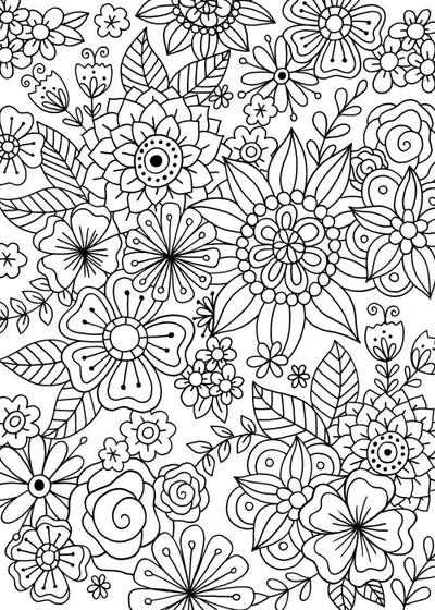 floral-colouring-card