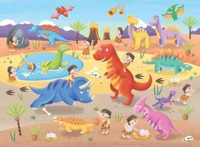 puzzle-childrens-dinosaur-prehistoric-cavemen-ed-myer