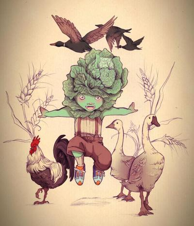 coliflower-boy-and-farm-animals