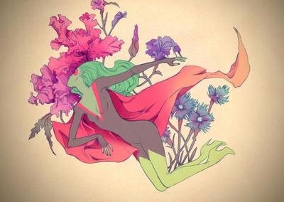 superheroine-and-flower